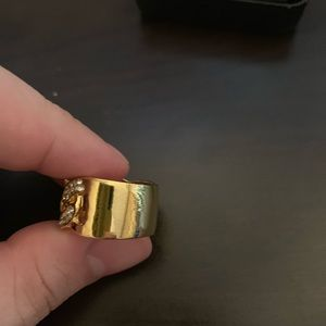 Accessories - Gold Cuban link ring size 10